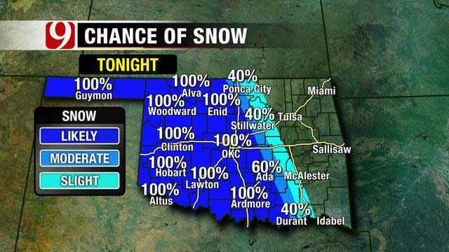 Second Wave Of Winter Weather Sweeps Through Oklahoma Overnight