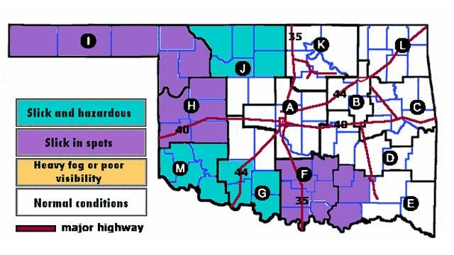 Snow Storm Beginning To Impact Roads In Parts Of OK
