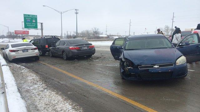 Multi-Car Crash Impacts I-44 Traffic Near Western Avenue