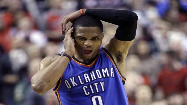 Westbrook's Face Fractured; Faces Surgury