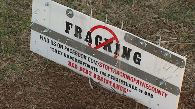 Anti-Fracking Signs Vandalized In Payne County