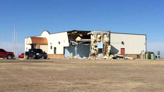 Authorities Investigate After Truck Crashes Into Building In Concho