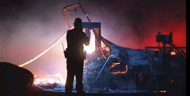 Courthouse, Newspaper Office And Barn Set On Fire in Concho