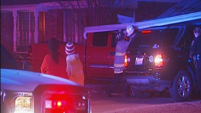 Man Arrested After Pickup Slams Into Carport In NE OKC