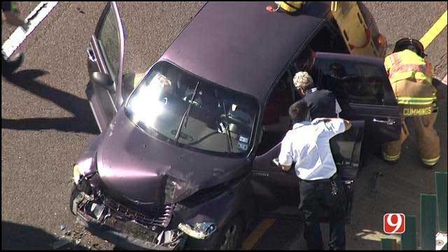 Emergency Crews Respond To Crash At I-40 At Air Depot