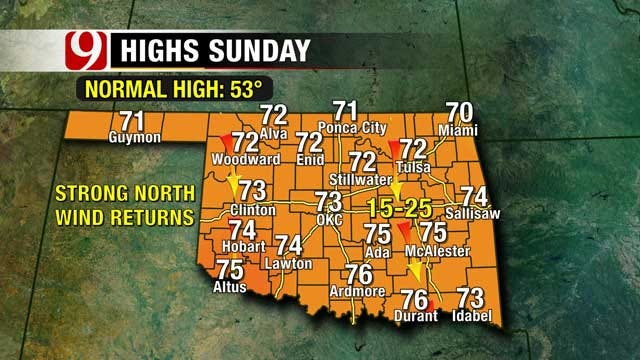Sunshine And Seventies On Saturday In Oklahoma