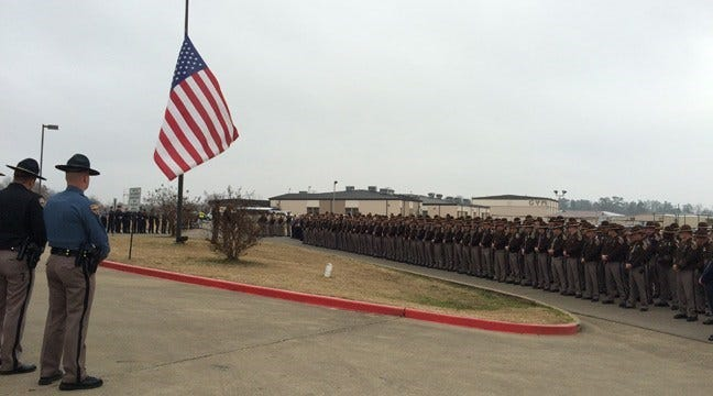 Family And Friends Honor OHP Trooper Killed At Broken Bow Funeral
