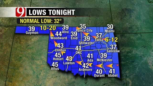 Cool, Mild Weather Sticks Around In Oklahoma