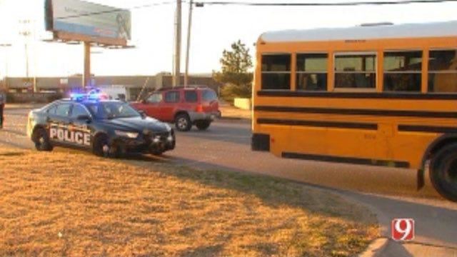 No One Injured In Accident Involving School Bus In OKC