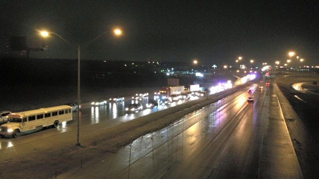Multiple Accidents Reported As Freezing Rain Moves Across OKC Metro