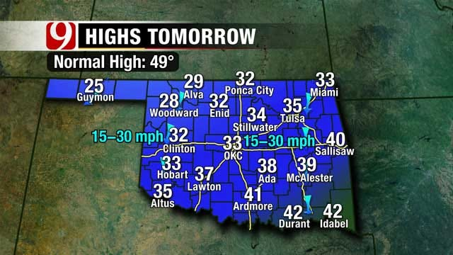 Chance Of Snow; But Slow Warm Up Expected For Oklahoma