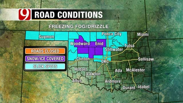 Freezing Fog Leaves Roads Slick In Northwestern Oklahoma