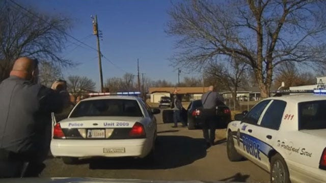Dash Camera Records High-Speed Chase In Enid