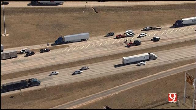I-35 NB Back Open At Wilshire In OKC Following Multi-Vehicle Crash