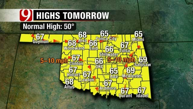 Sunday Temperatures To Reach The 70s