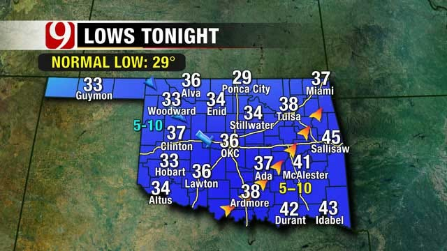 Warm Days, Cold Nights Expected Most Of The Week In Oklahoma