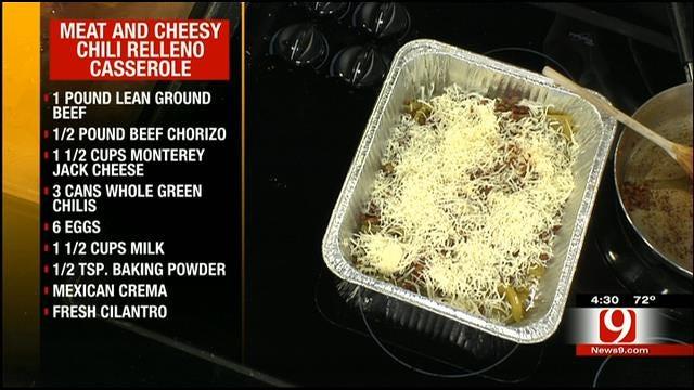 Meat and Cheesy Chili Relleno Casserole