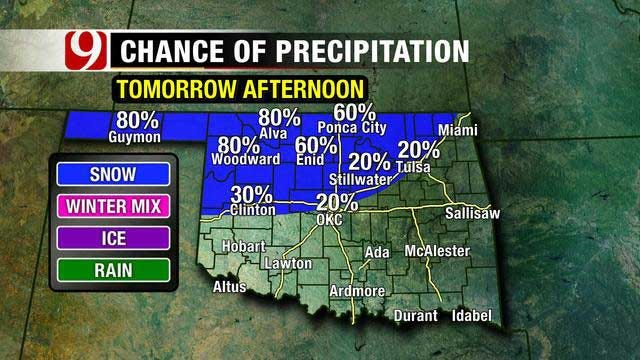 Light Rain Lingers, Cold Front Arrives Saturday In Oklahoma