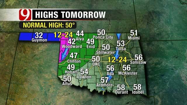 Cooler Temps, Winter Precipitation On The Way To Oklahoma