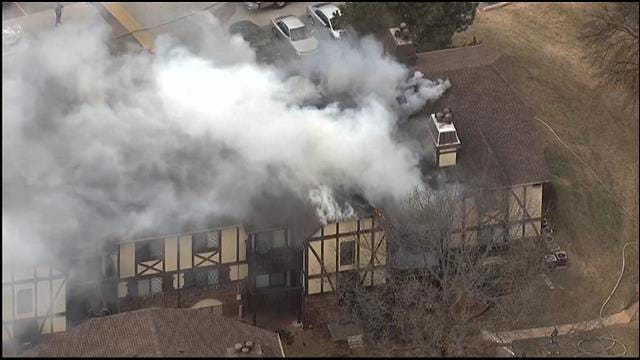 Residents Evacuated After Fire Breaks Out At NW OKC Apartment Complex