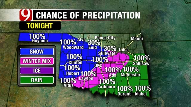 Snow Expected As Winter Storm Moves Into Western Oklahoma