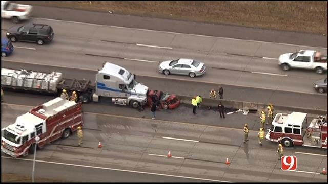 Multiple Accidents Snarl Traffic On I-35 In Edmond