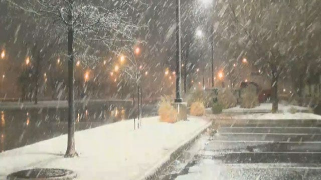 Wintry Weather Cancels Some OK Schools, Causes Slick Road Conditions