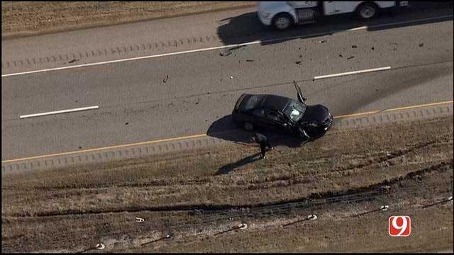 Car Accident Causes Roadblock In SW OKC