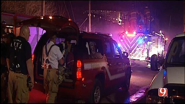 Crews Knock Down Semi Fire In NW OKC Salvage Yard