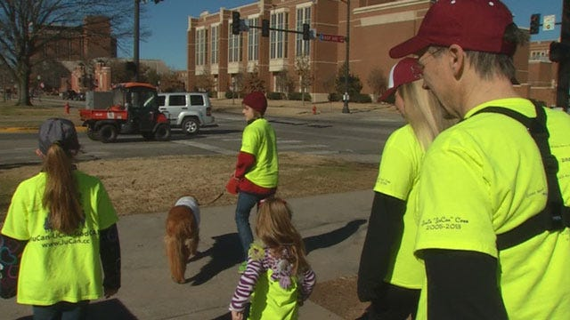 Family Raising Money For Cancer Research Visits OKC During Cross-Country Walk