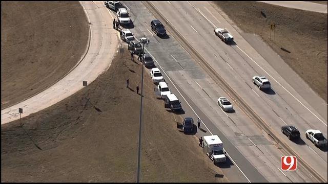 Multi-Vehicle Crash Reported On I-235, Near I-44 Junction