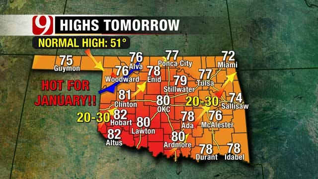 Record-Breaking Temperatures Expected In Oklahoma