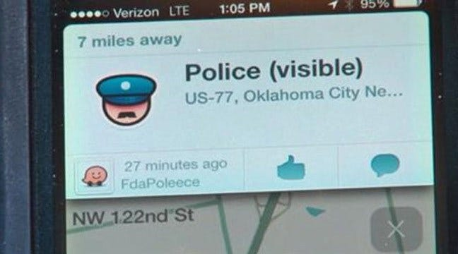 Concerns Expressed Over Traffic App That Reports Police Locations