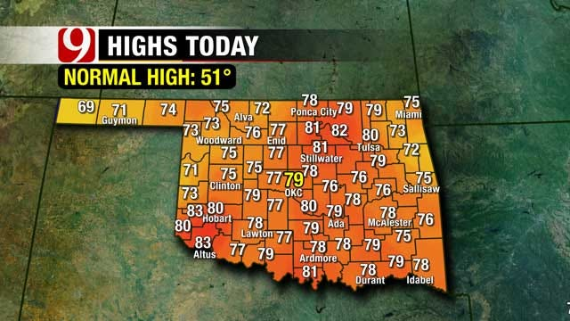 Oklahoma Temperatures Break Records, But Cold Front Coming