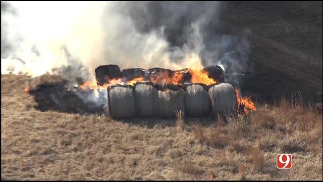 Crews Contain Grass Fire Near Guthrie