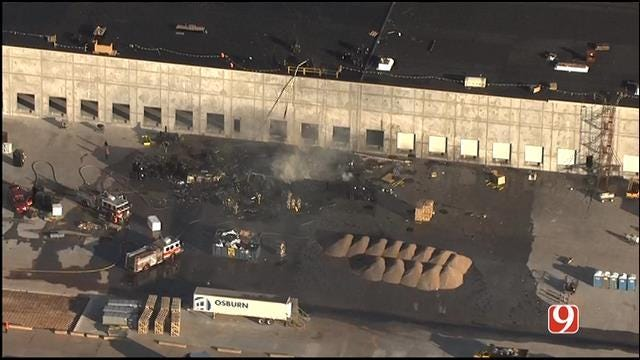 Crews Contain Large Fire Behind Hobby Lobby Building In SW OKC