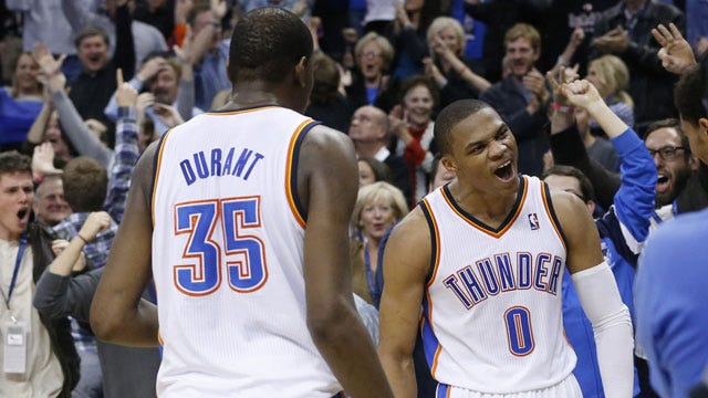 Durant and Westbrook Named To All-Star Team
