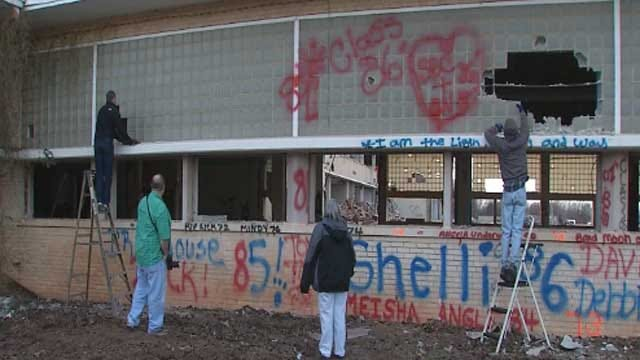John Marshall High School Demolition Nears Completion