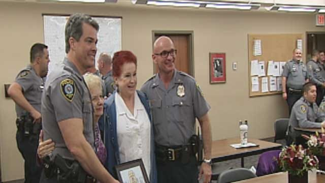 OKC Police Honor Pair Who Have Baked Them Cakes For Years