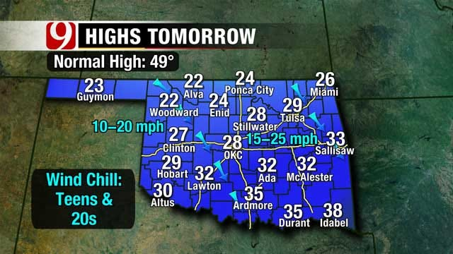 Lasting Cold Temperatures And A Chance Of Snow For Oklahoma