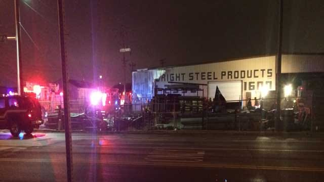 OKC Steel Products Company Catches Fire