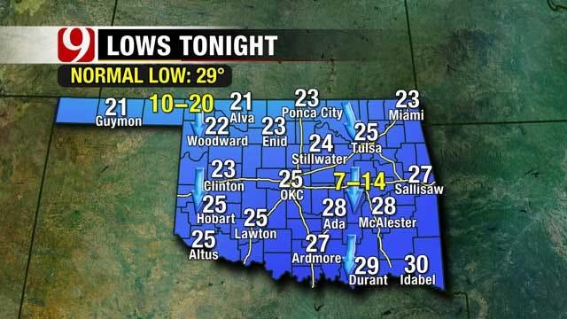 Frigid Temperatures In Oklahoma Stick Around This Week