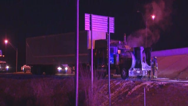 I-40 EB Off-Ramp At SE 15th In Del City Reopens After Semi Fire