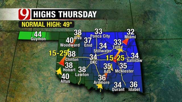 Incoming Front Brings Coldest Air Of The Season To Oklahoma