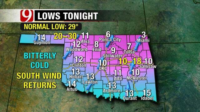 Frigid Cold Temperatures To Stick Around For Oklahoma