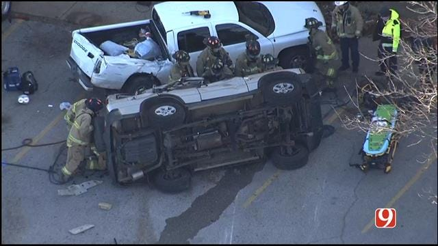 Rollover Crash Reported In SW OKC