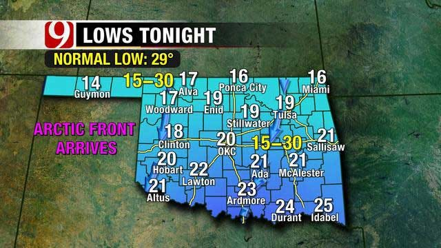 Cold Front Moves In Thursday Night