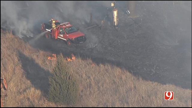 Multiple Crews Douse Grass Fire Northwest Of Edmond