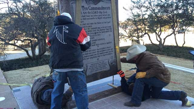 New Ten Commandments Monument Installed At State Capitol