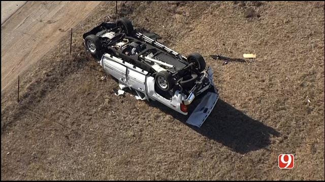 Rollover Crash Reported On EB I-40, Near Council In OKC